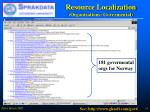 resource localization organizations govermental
