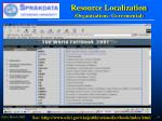 resource localization organizations govermental45