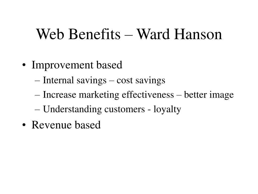 Web Benefits – Ward Hanson