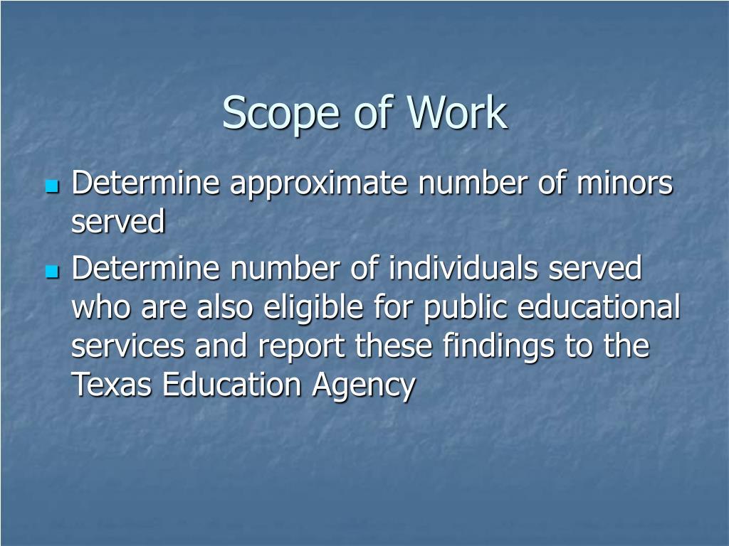 Scope of Work