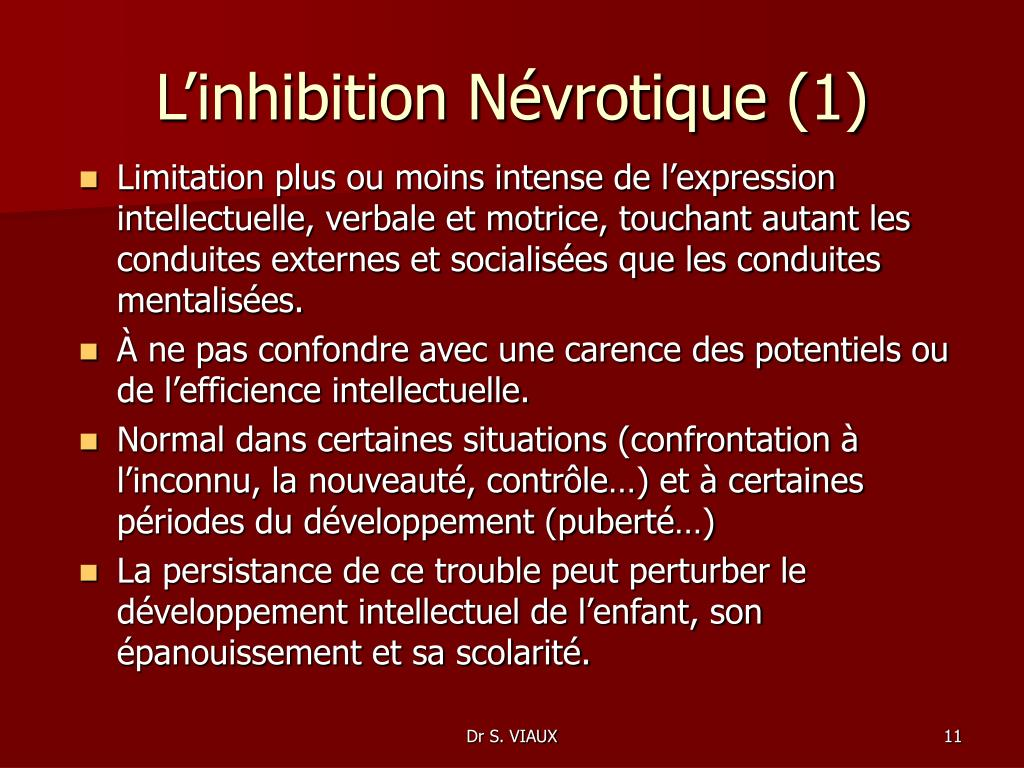 L'inhibition Névrotique (1)