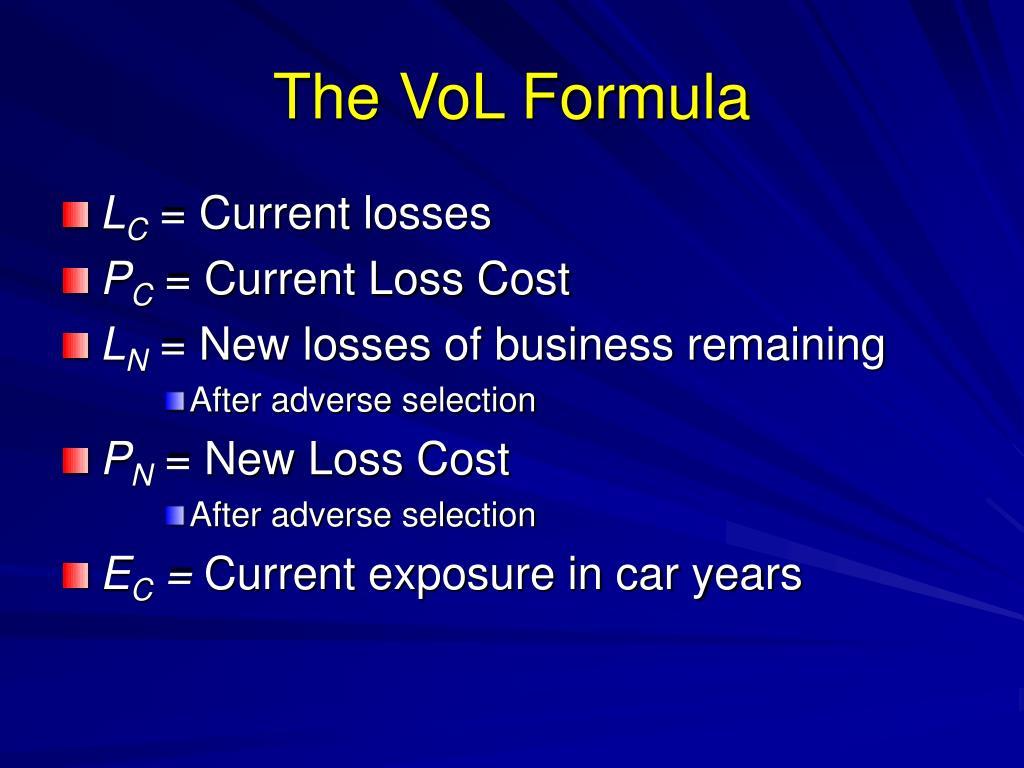 The VoL Formula