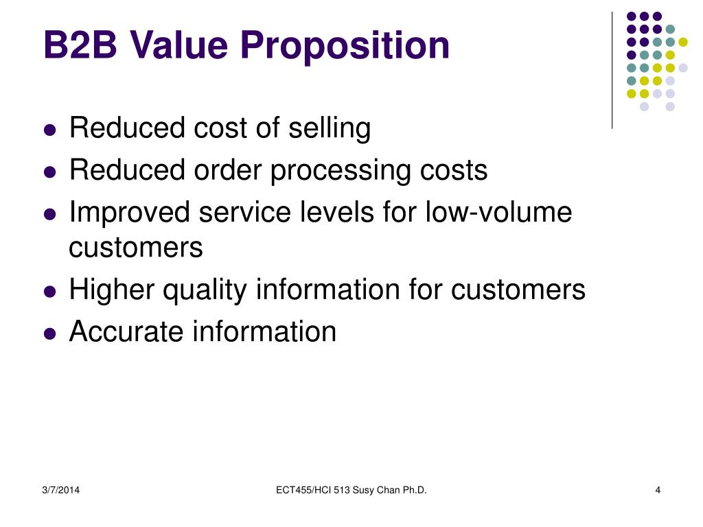 B2B Value Proposition