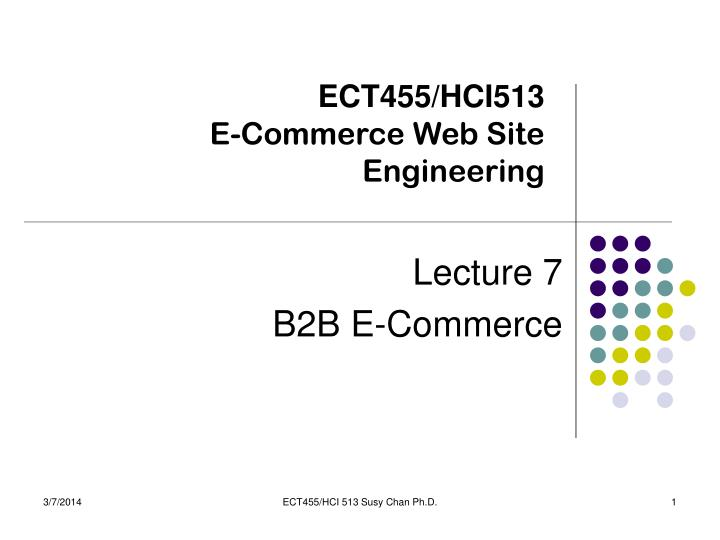Ect455 hci513 e commerce web site engineering