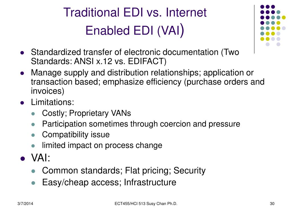 Traditional EDI vs. Internet