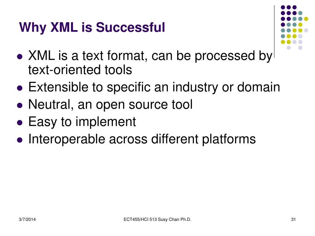 Why XML is Successful