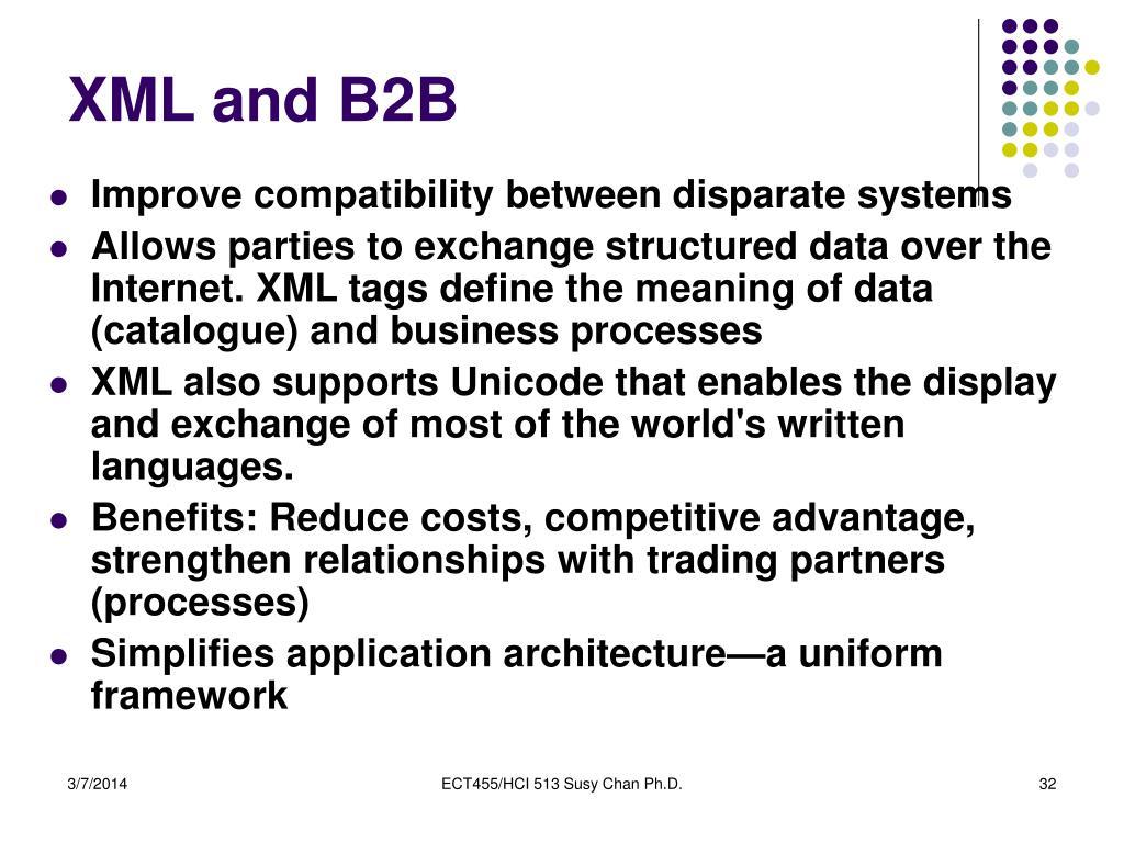 XML and B2B