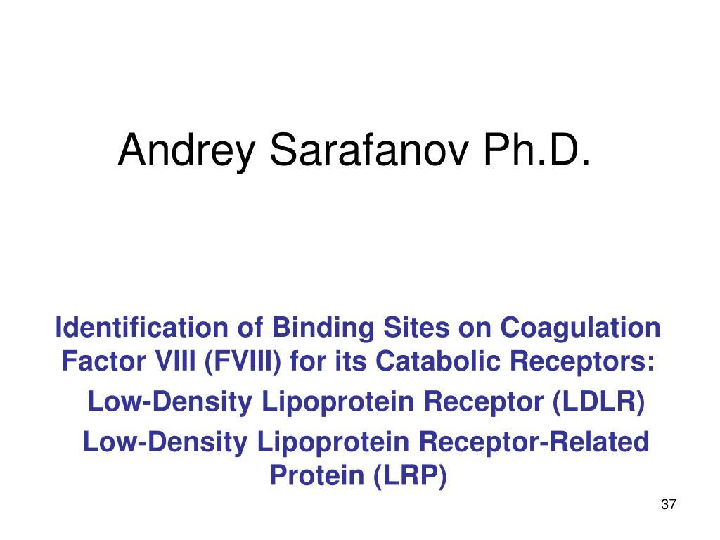 Andrey Sarafanov Ph.D.