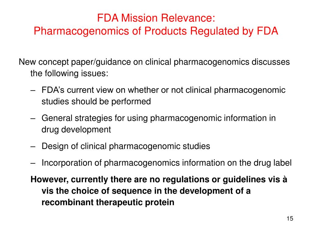 FDA Mission Relevance: