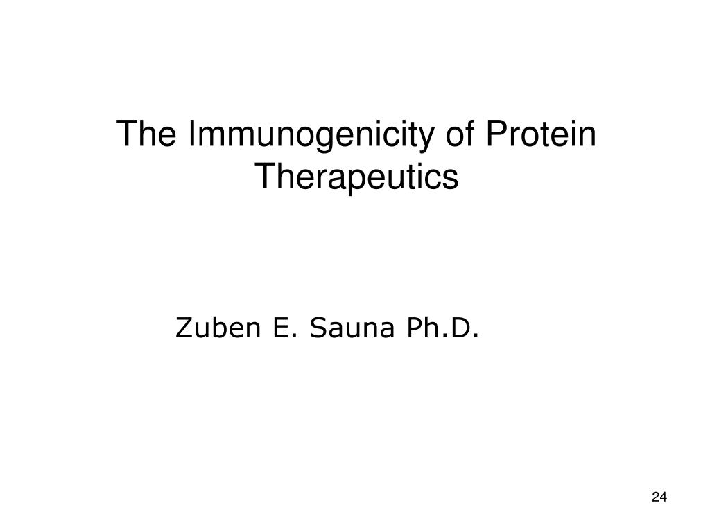The Immunogenicity of Protein Therapeutics