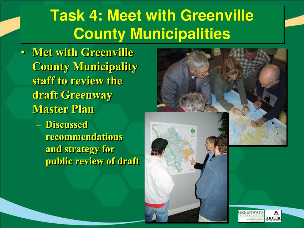 Task 4: Meet with Greenville County Municipalities