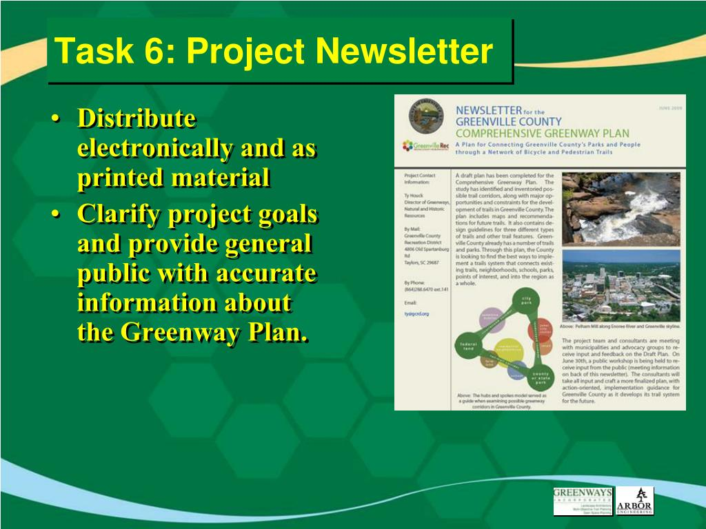 Task 6: Project Newsletter