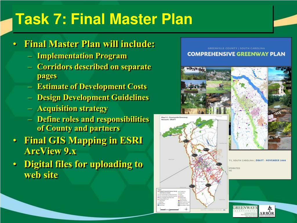 Task 7: Final Master Plan