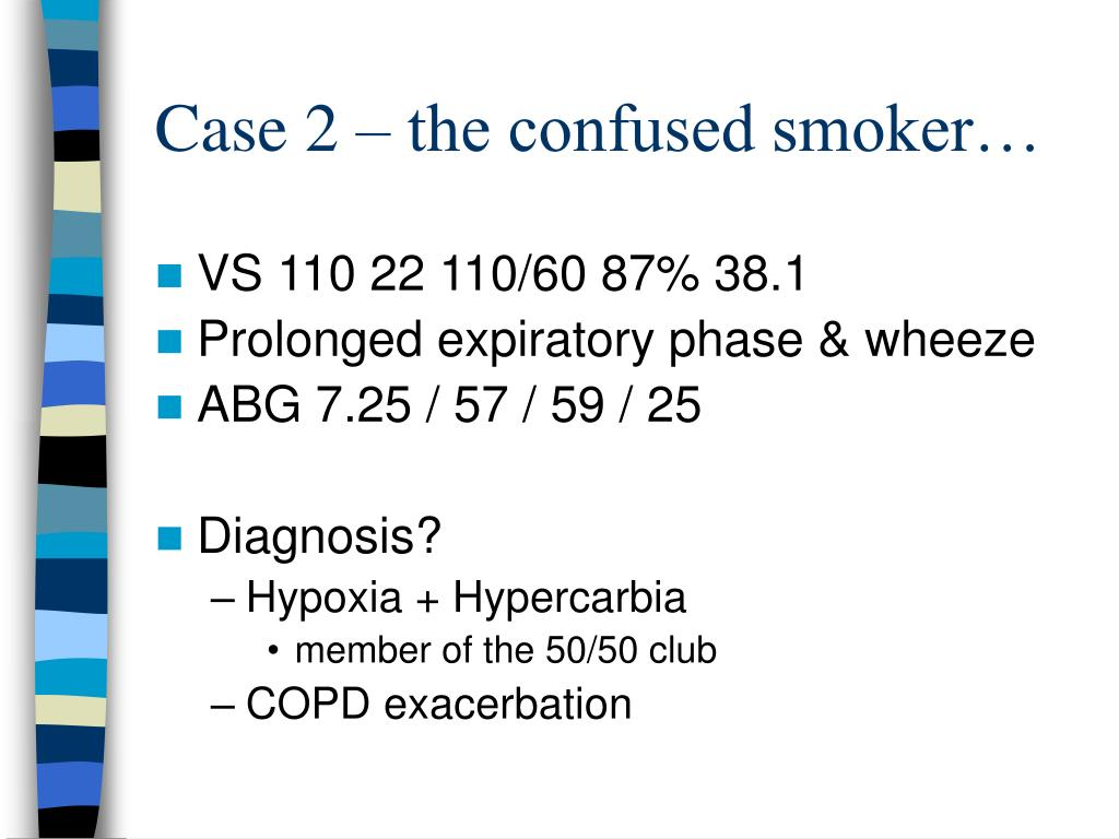 Case 2 – the confused smoker…