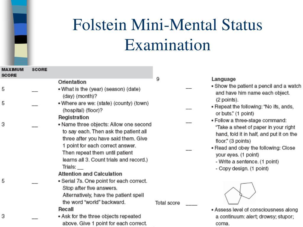 Folstein Mini-Mental Status Examination