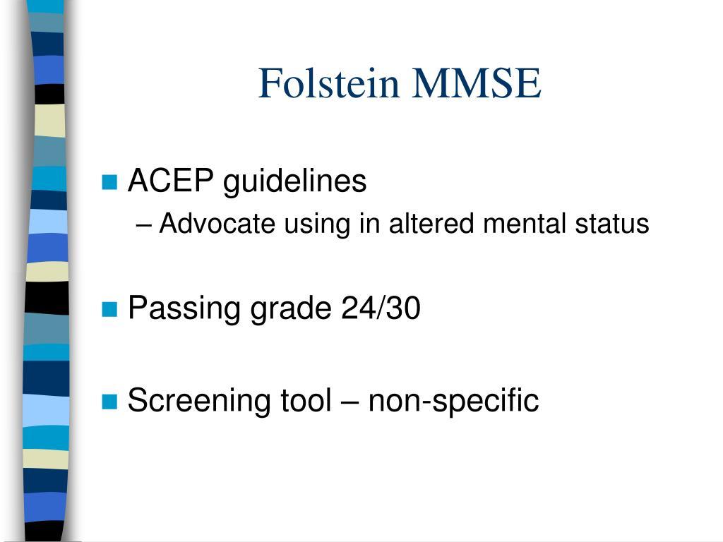 Folstein MMSE