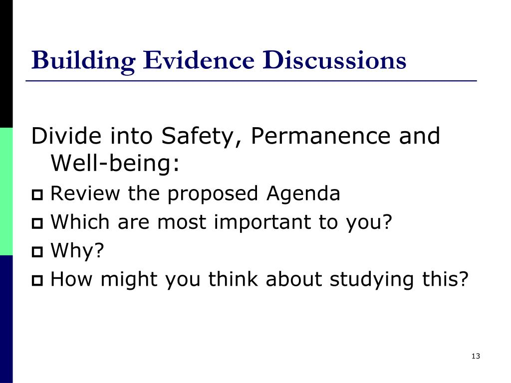 Building Evidence Discussions