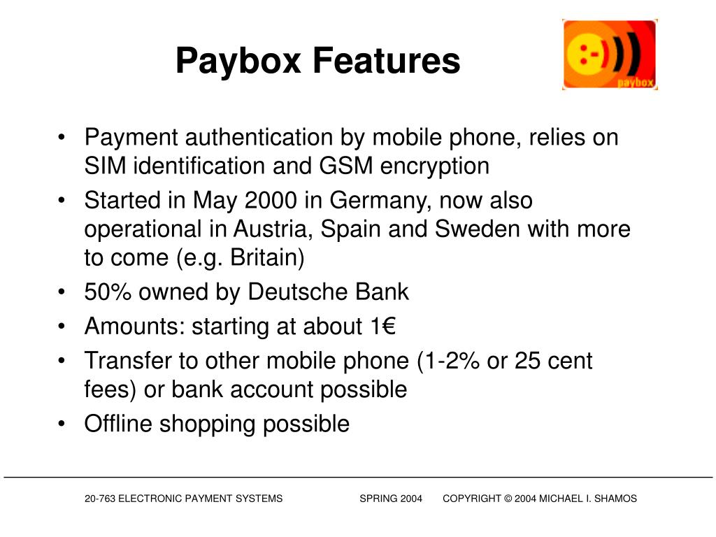 Paybox Features