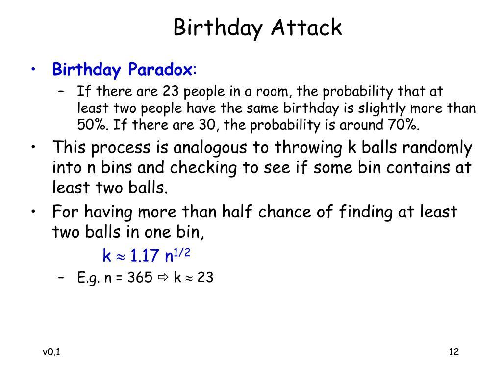 Birthday Attack