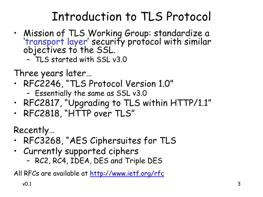 Introduction to TLS Protocol