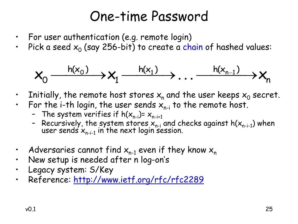 One-time Password