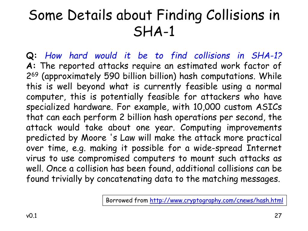 Some Details about Finding Collisions in SHA-1