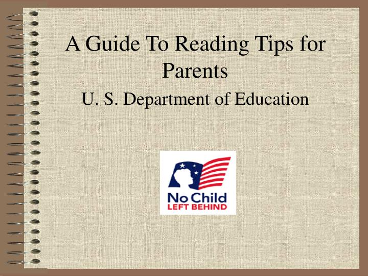 A guide to reading tips for parents u s department of education