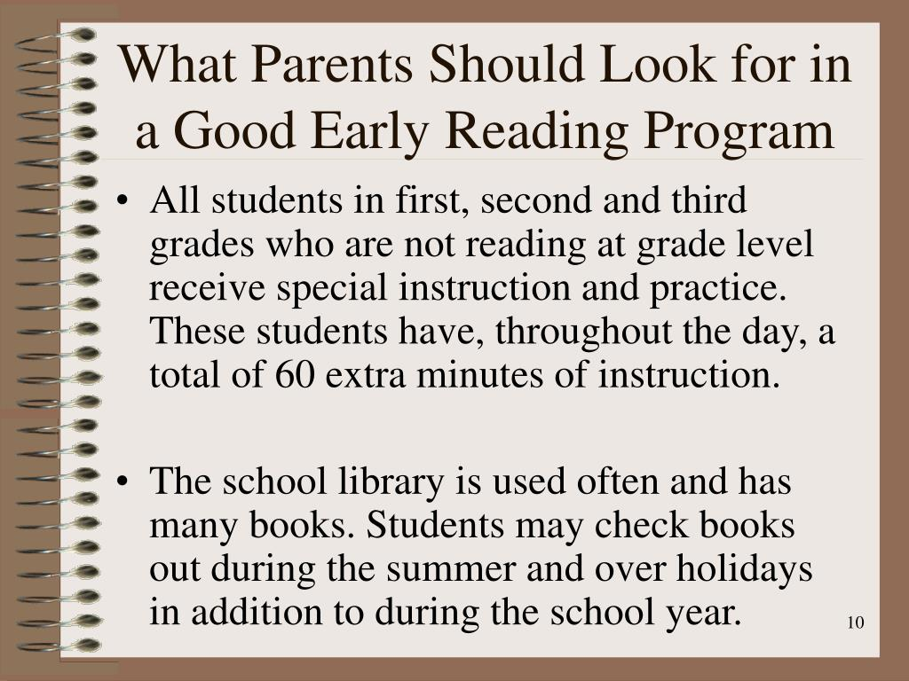 What Parents Should Look for in a Good Early Reading Program