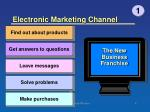 electronic marketing channel