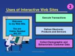 uses of interactive web sites