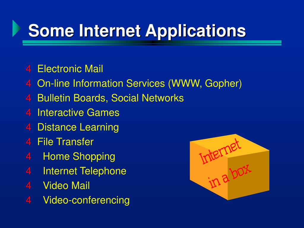 Some Internet Applications