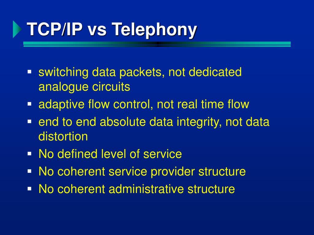 TCP/IP vs Telephony