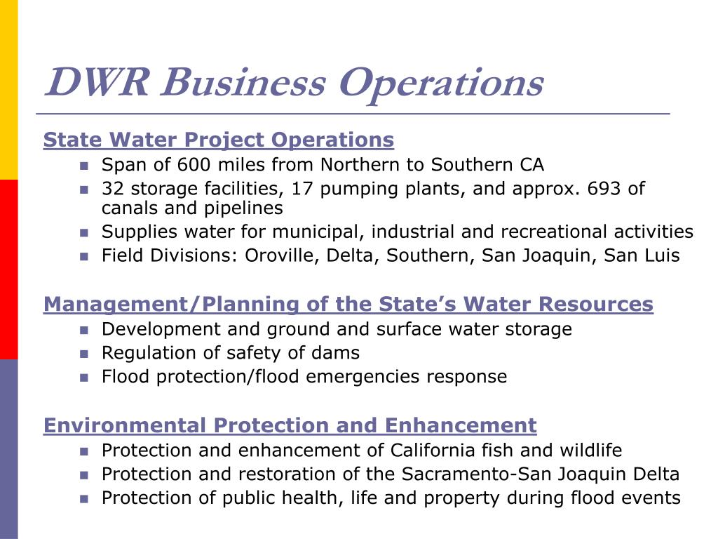 DWR Business Operations