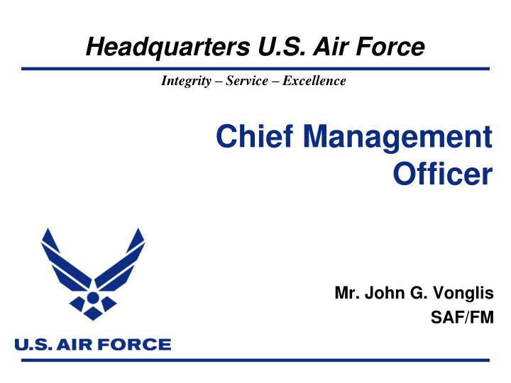 Chief management officer