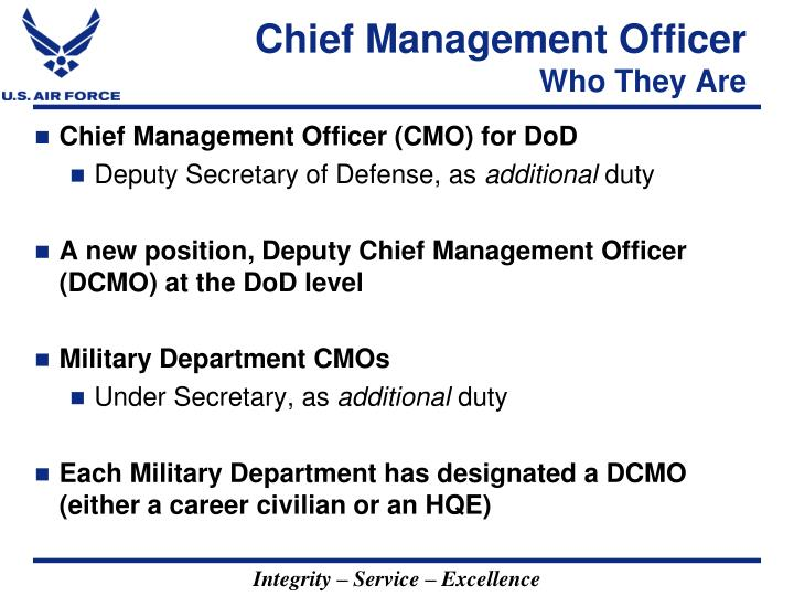 Chief management officer who they are