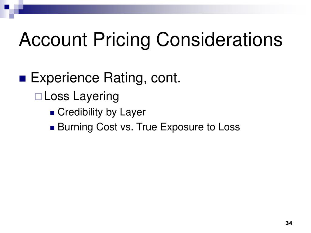 Account Pricing Considerations