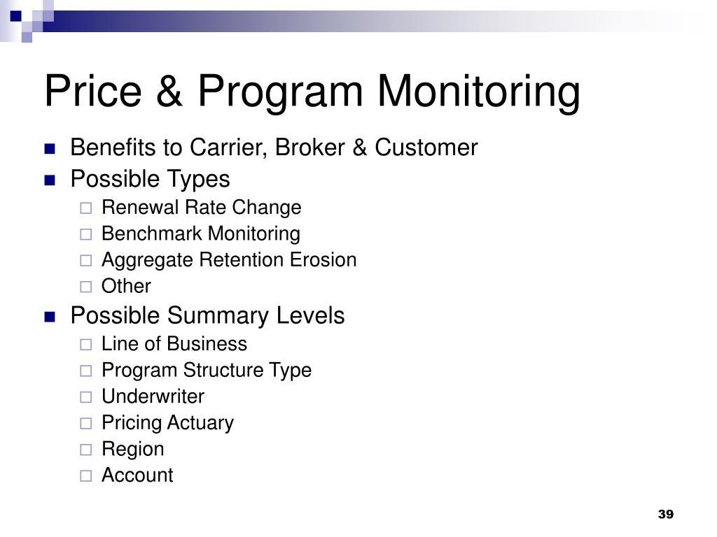 Price & Program Monitoring