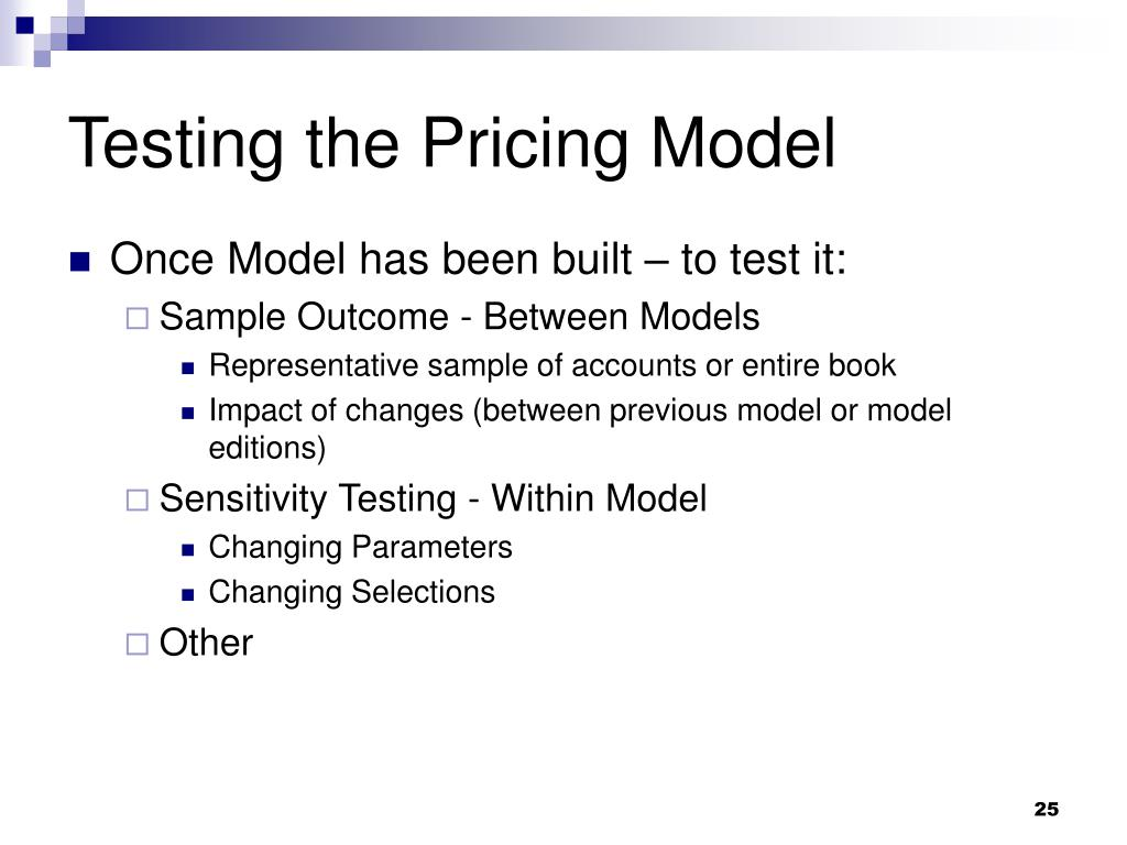 Testing the Pricing Model