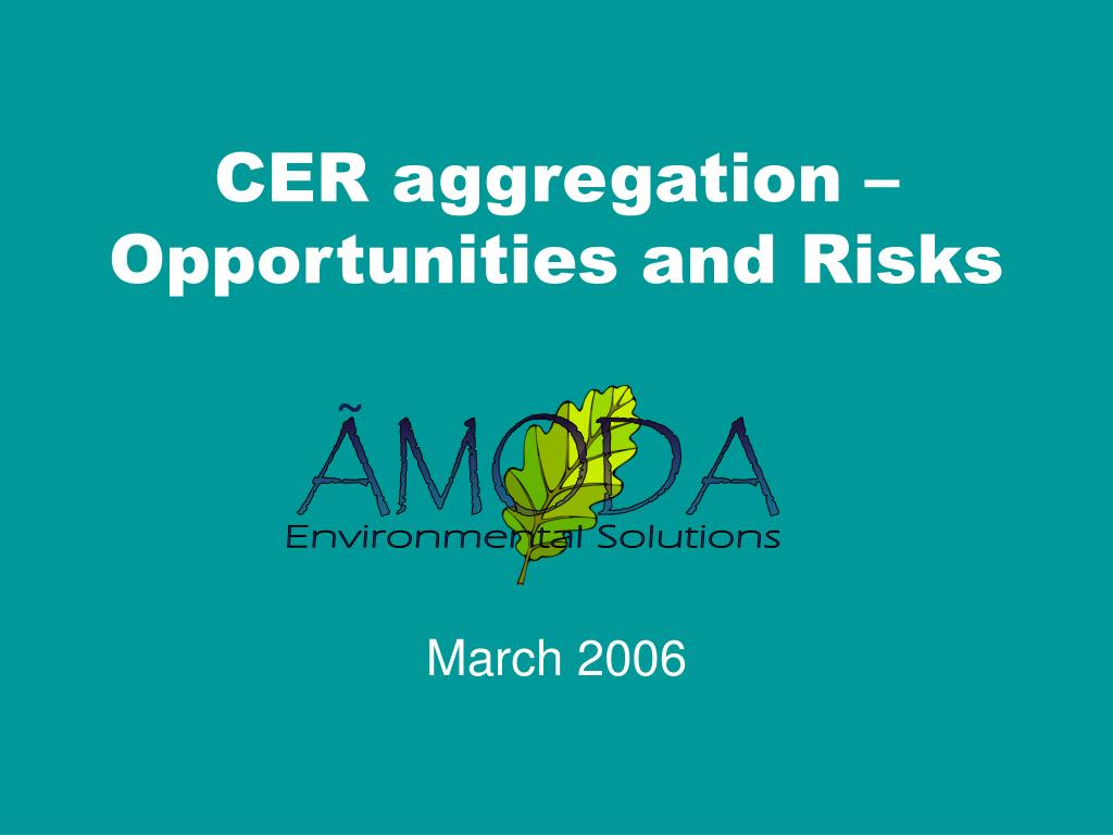 CER aggregation – Opportunities and Risks