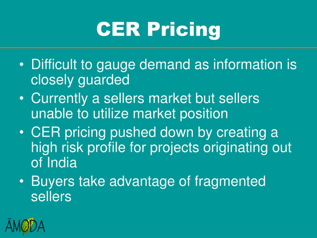 CER Pricing