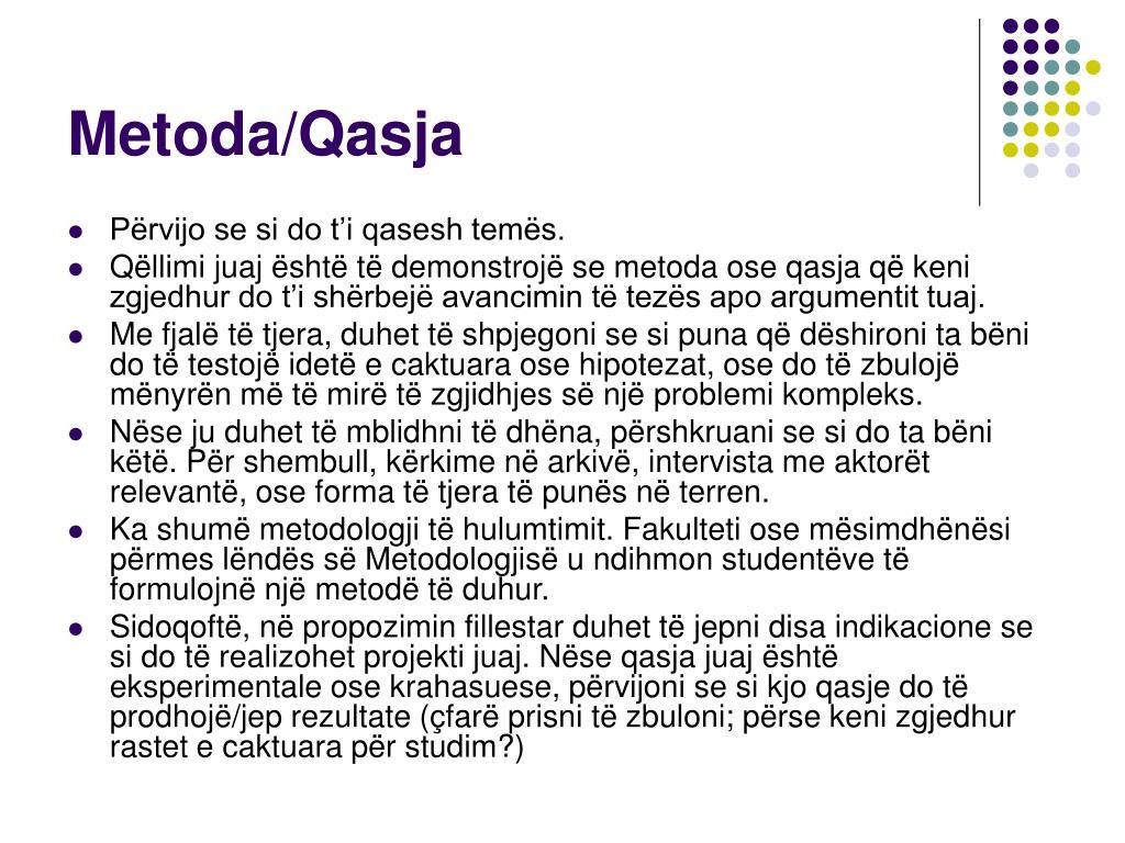 Metoda/Qasja