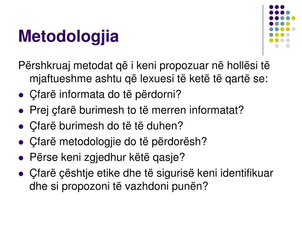 Metodologjia