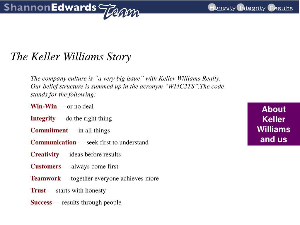 The Keller Williams Story