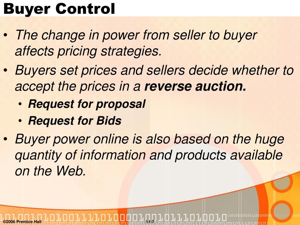 Buyer Control