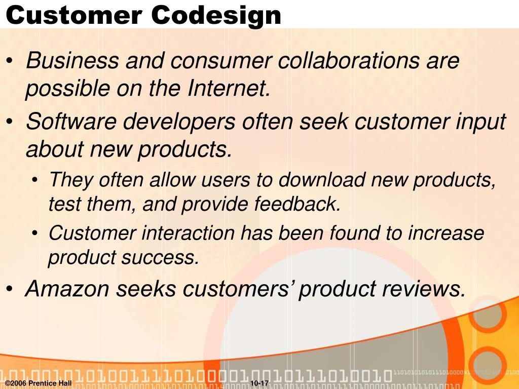 Customer Codesign