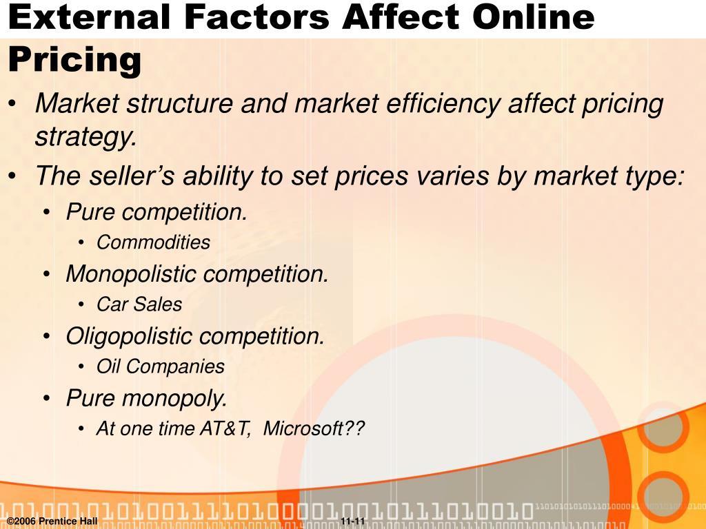External Factors Affect Online Pricing