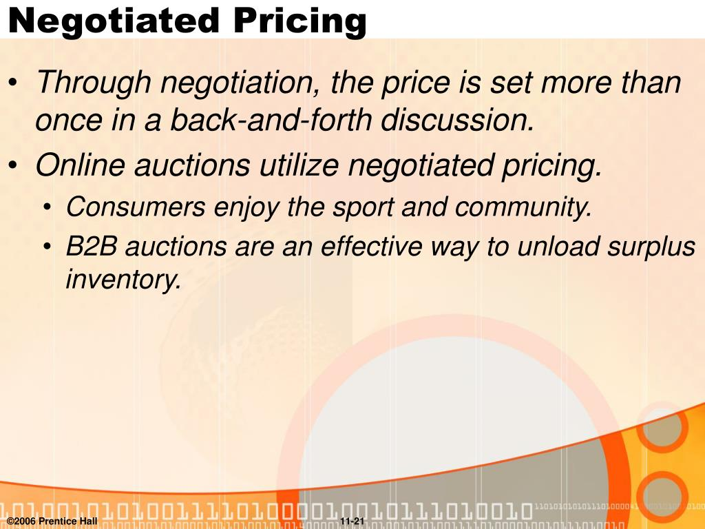 Negotiated Pricing