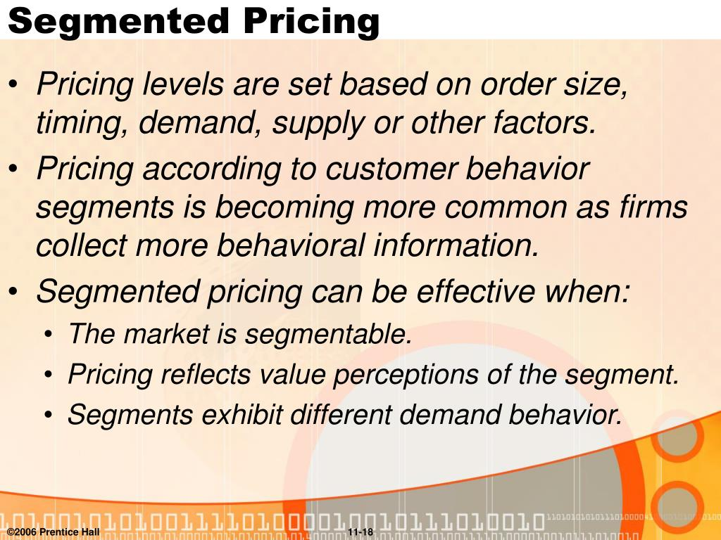 Segmented Pricing