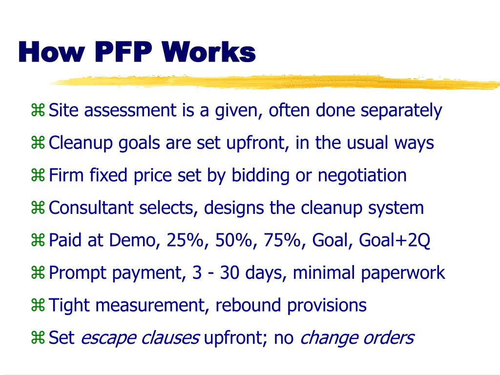 How PFP Works