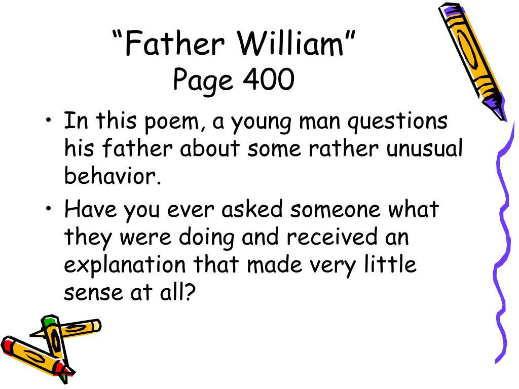 """""""Father William"""""""